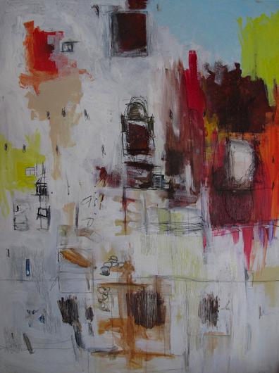 Untitled, 3.5 x 4 ft., mixed media