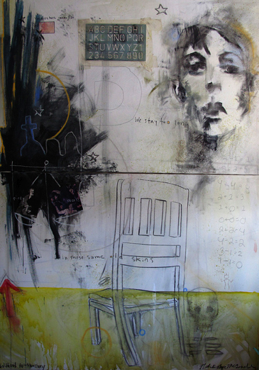"""Without Apothecary,"" 4.5 x 5.5 ft., mixed media"
