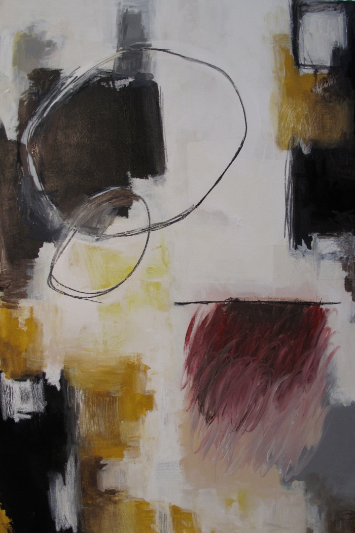 """""""Some Things Are Dark,"""" mixed media, 24 x 36, 2014"""